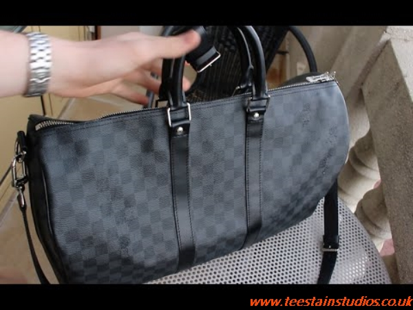 Lv Keepall 45 Damier Graphite