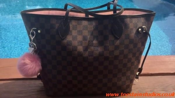 Louis Vuitton Neverfull Mm Damier Ebene Rose Ballerine