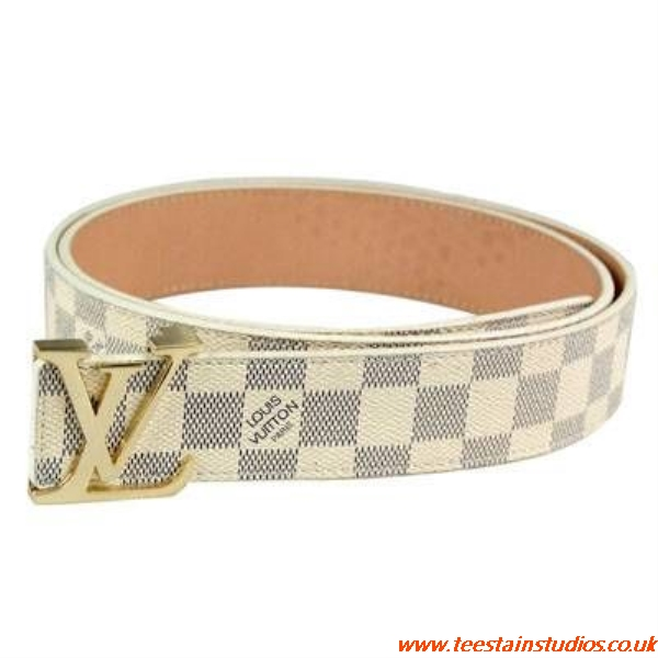Louis Vuitton Belt White And Gold