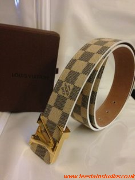 Louis Vuitton Belt White Fake